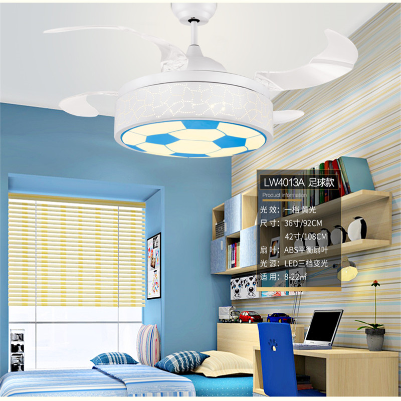 Fabulous Us 250 75 15 Off Ceiling Fans Lamp 42 Inch 108Cm Led Children Room Boy Football Remote Control 3 Color Ceiling Fan Light Girl Princess Lamp Pink In Download Free Architecture Designs Ferenbritishbridgeorg