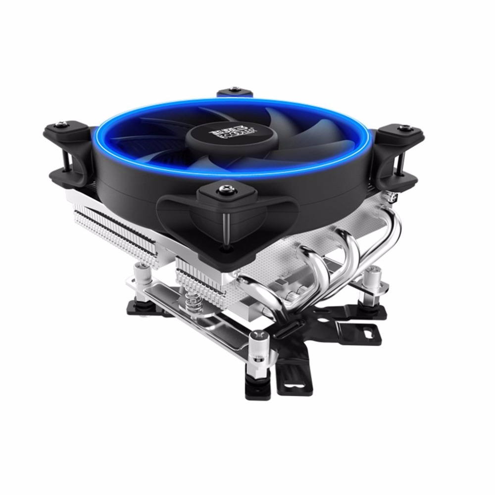 PCCOOLER AM CPU Cooler 4 Contact Heatpipes Radiator Quiet Heatsink Fan Hydraumatic Bearing for Intel for 3U Ultra-thin Chassis pccooler cpu cooler 2 pure copper heatpipes 9cm quiet fan computer pc cpu cooling radiator fan for amd fm intel 775 1155 1156