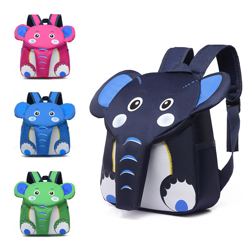 Cartoon cute animal bag kids boys elephant backpack children schoolbags for girls kindergarten bag toddler backpack softback