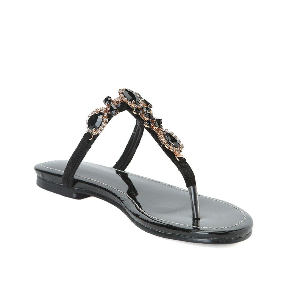 Karinluna luxe grande taille 47 personnalisé haut loisirs qualité femmes chaussures femme été Csystals sandales décontractées tongs - 4