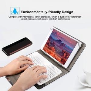 Image 2 - ワイヤレスbluetoothキーボードタブレットpuレザーケーススタンドパッド 7 8 インチ 9 10 インチiosアンドロイドwindows