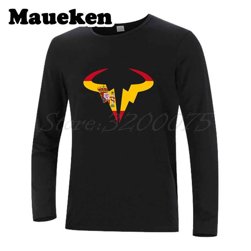 Men Autumn Winter Matador Rafael Nadal Tennising Player Logo with spain logo T-Shirt Long Sleeve T SHIRT W1125108