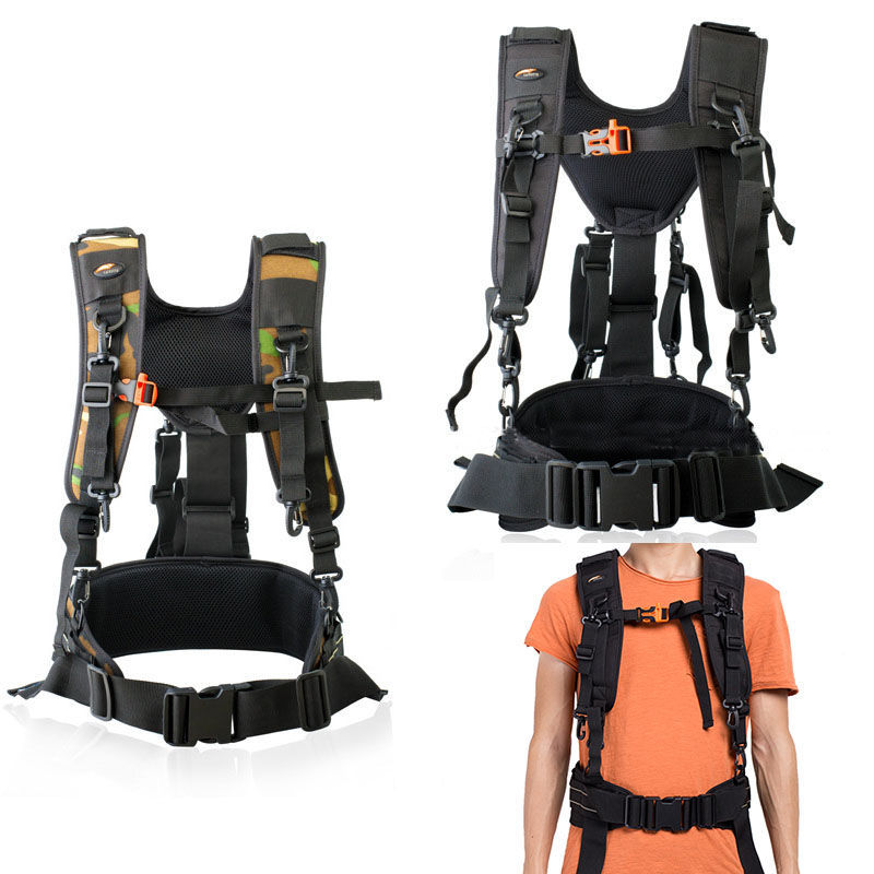 SAFROTTO Multi function Dual Shoulder Strap with Waist Strap Belt for Canon Nikon Sony DSLR Cameras