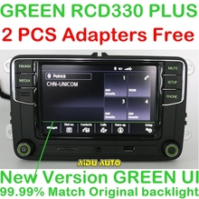 """RCD330 Plus 6.5 """"MIB UI Radio luz de Fondo Verde Para Skoda Octavia fabia"""