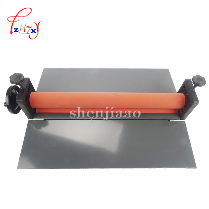 NEW Heavy 25 Manual Laminating Machine Photo Vinyl Protect Rubber Cold Mounting Laminator Office Equipment electric a3 laminator machine photo laminator office pouch laminating machine professional for a3 document photos 1pc