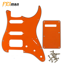 Pleroo Guitar Accessories Pickguard with back plate and 11 screws for Fender Stratocaster USA/Mexican Standard strat HSS guitar недорго, оригинальная цена