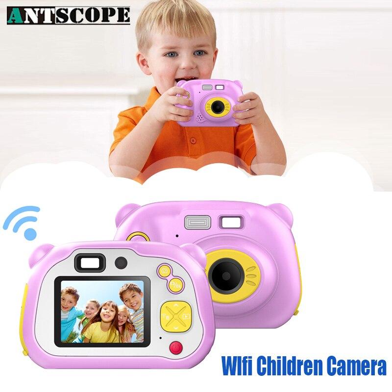 Antscope Mini Wifi Children Camera 1080P HD 2 Inch LCD Screen Cartoon Portable Camera Children Toys