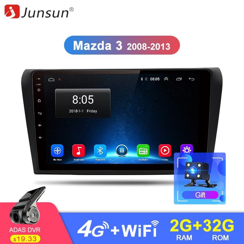 Junsun 2G+32G Android 8.1 4G Car Radio Multimedia Player Navi GPS For Mazda 3 Mazda3 2004-2009 2Din Tape Recorder stereo no DVD dispensador de cereal peru