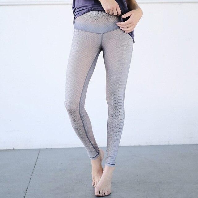 a19e62790d Mermaid Print Ornamental Women Yoga Legging Fitness Retro Print Gym Tights  workout high waist running trousers sports pants