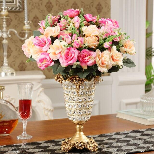 Diamant Harz Vase Europäischen Kreative Harz Vase Hochwertige Modische  Haushalt Dekoration Wohnzimmer Tabelle Ort Blume