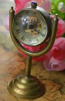 wholesale global globe mechanical fob watch good quality man pocket watches vintage standing bronze glass ball brass