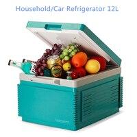 Бытовой/открытый автомобильный холодильник 12L еда холодильное Портативный морозильник для автомобиля
