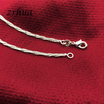 ZRHUA Fashion Simple Chain For Women Anklet Hot Sale 925 Sterling Silver Anklets Bracelet For Women Foot Jewelry Accessories 3