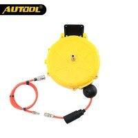 AUTOOL 8X5mm 10M/32.80ft Auto Rewind Air Hose Reel Car Mini Retractable Hose Portable Winding Air Compressor Washing Tool
