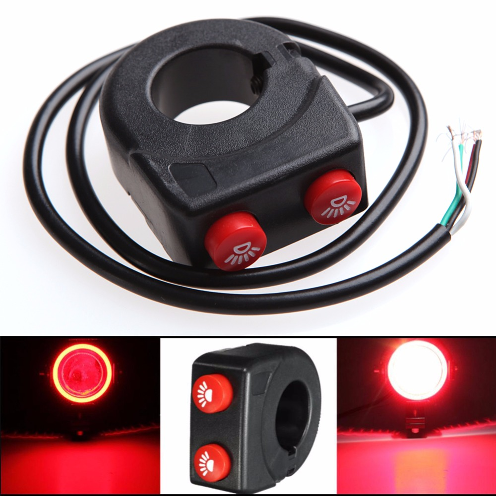 1pc 7 8 Motorcycle Bike Handlebar On Off Button Head Fog Light How To Wire Push Switch A B86 High Quality Racing Car 12v Ignition Panel Engine Start Led Toggleusd 2044 Set