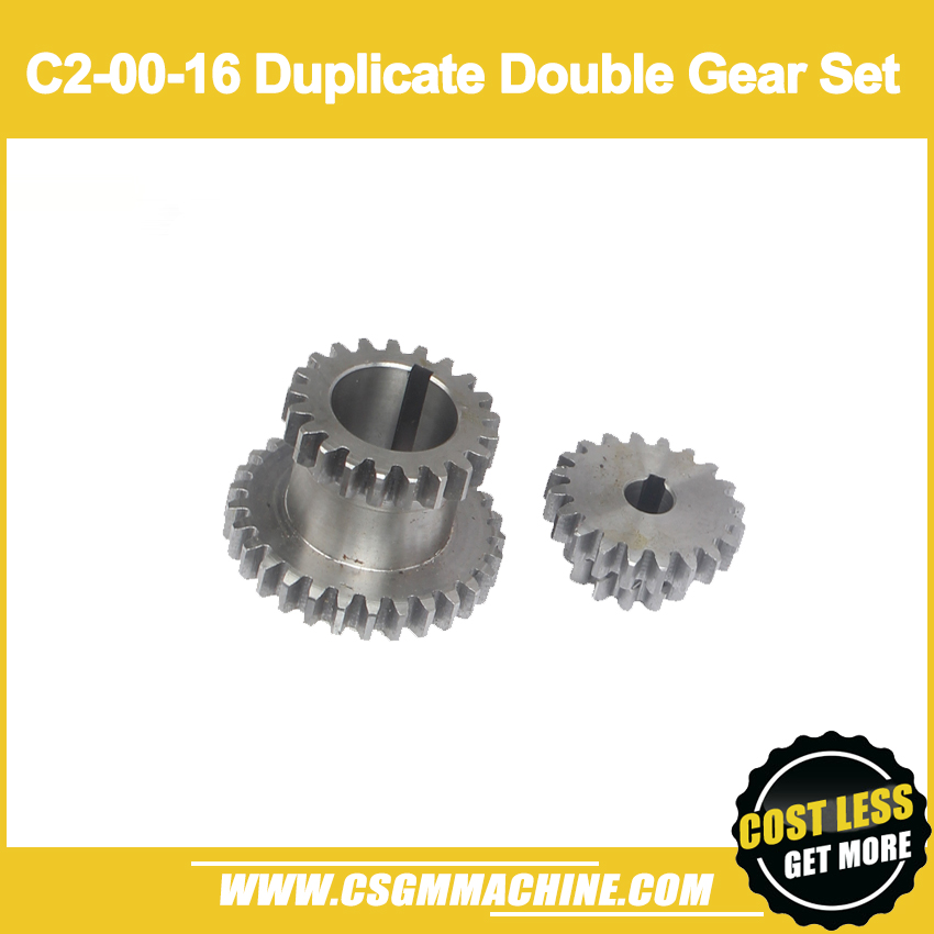 Free shipping!/S/N:C2-00-16  Metal Transmission gear/ 2pcs duplicate double gear setFree shipping!/S/N:C2-00-16  Metal Transmission gear/ 2pcs duplicate double gear set