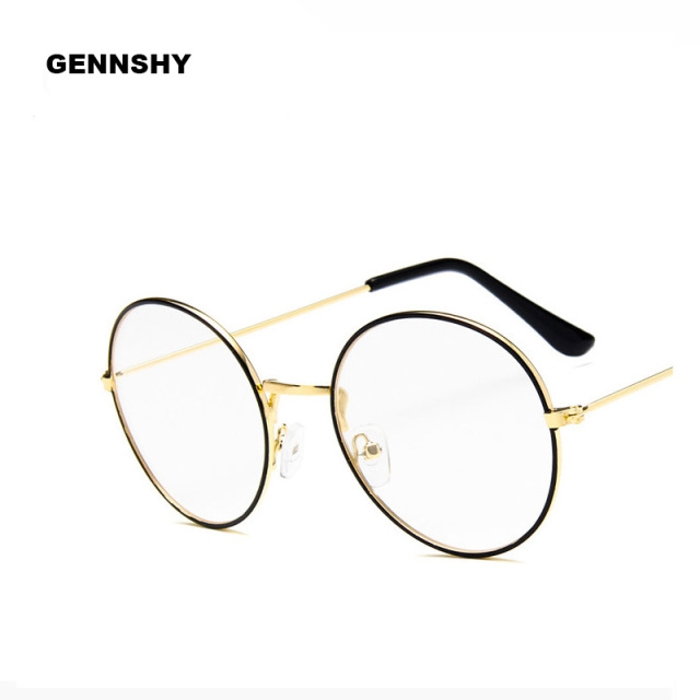 bd249e24ac09 2018 Korean Metal Optical Frame Women Men Retro Round Thin Eyeglasses  Vintage Artistic Glasses Frame Double
