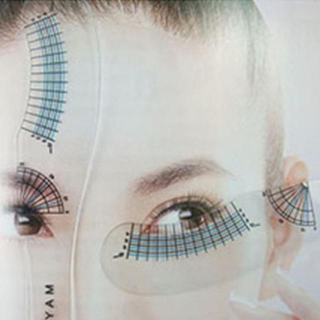 Eyelash Extension Styling Ruler Measuring Ruler Eyelash Curling Eyelash Symmetrical Positioning Eyebrow Beauty Tools #