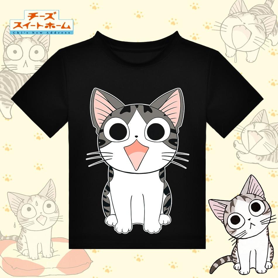 Anime japonês Doce Lar do Chi T-shirt de Poliéster Preto Camiseta Gato  Kawaii Tshirt Das Mulheres Dos Homens de Moda Roupas de Verão Ativo cf20eee6e9