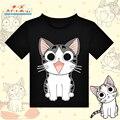 Japanese Anime Chi's Sweet Home T-shirt Black Polyester T Shirt Kawaii Cat Summer Active Tshirt Fashion Men Women Clothing