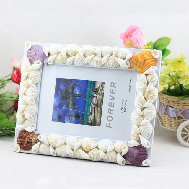 Pack 10units 3 5x5 Beach Decor Pearl Seashell Picture Frame For