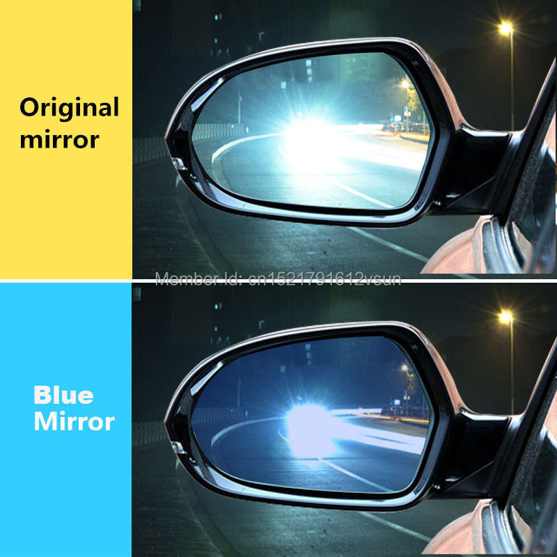 smRKE 2Pcs For Hyundai Tucson Rearview Mirror Blue Glasses Wide Angle Led Turn Signals light Power Heating in Mirror Covers from Automobiles Motorcycles
