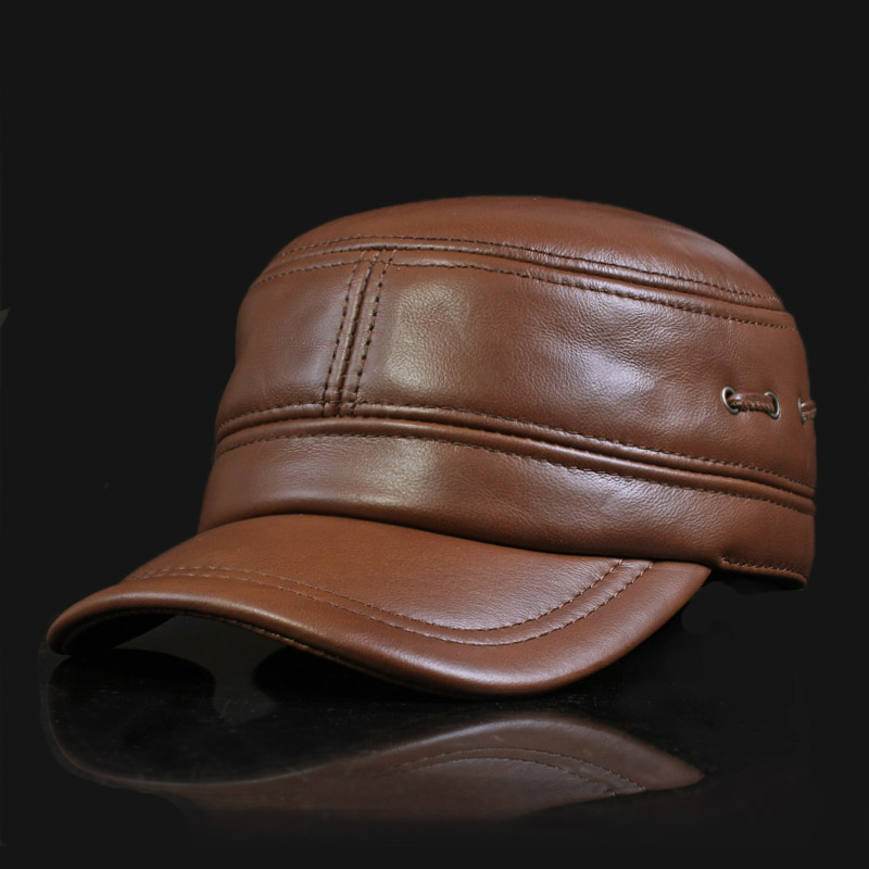 Man Winter Adjustable Flat Top Baseball Cap High Quality