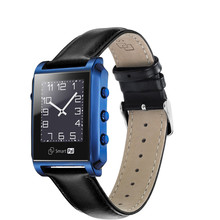 Sapphire screen watch Bluetooth Smart Watch DM08 Leather with Camera Sapphire Screen for IOS iPhone Android Samsung S7 Ga