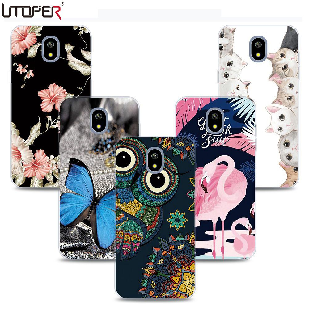 UTOPER Мода для Samsung Galaxy J3 2017 силиконовый чехол Soft для Samsung J3 2017 случае Евразийский версия для Samung J3 2017 j330f ...