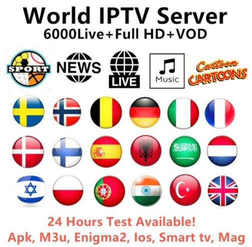 World europe IPTV Arabic French English Italy UK German Dutch Arabic Greece Spain Poland XXX VOD