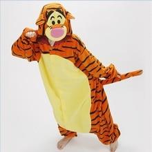 Lovely Tiger Onesie Costume Cosplay Winter Pyjamas Tigger Pajamas Sleepsuit Sleepwear