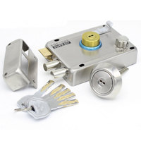 Old fashioned Anti theft Door Lock Stainless Steel Gate Lock for Iron Timber Gate Super B Locking Core