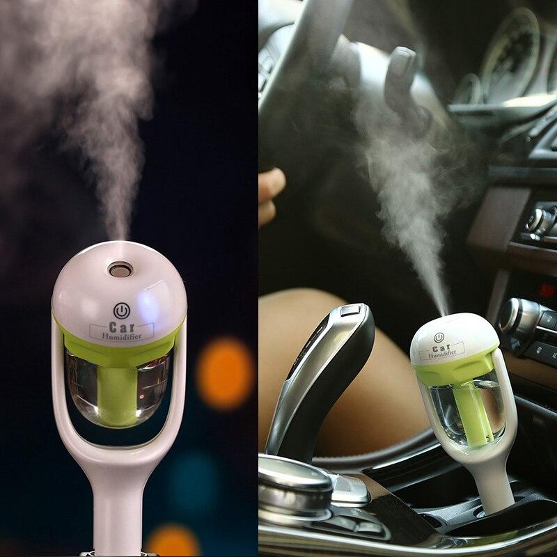 12 V Carro A Vapor Umidificador de Ar Aromaterapia Difusor do Óleo Essencial Difusor de Aroma de Mini Purificador de Ar Névoa Criador Fogger Portátil