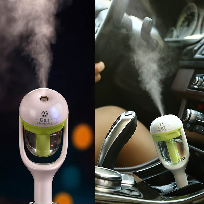 12V Car Steam Air Humidifier Aroma Diffuser Mini Air Purifier Aromatherapy Essential Oil Diffuser Portable Mist Maker Fogger