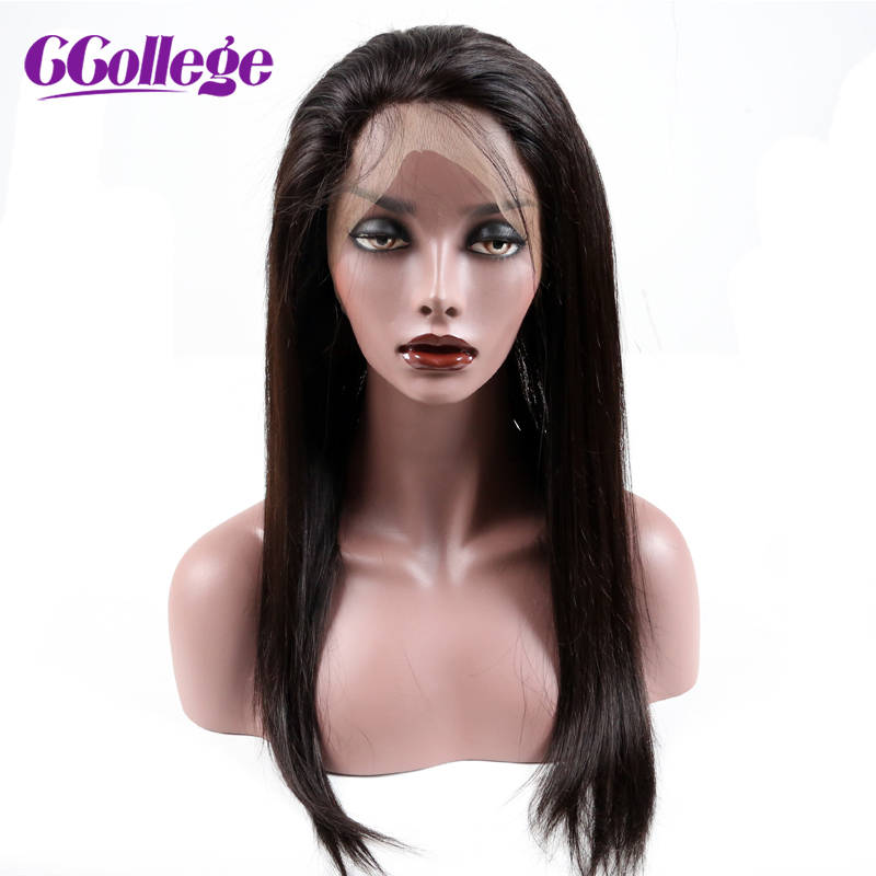 CCollege Hair Straight 360 Lace Frontal Closure With Baby Hair Natural Color 10-20 inch Brazilian Human Remy Hair