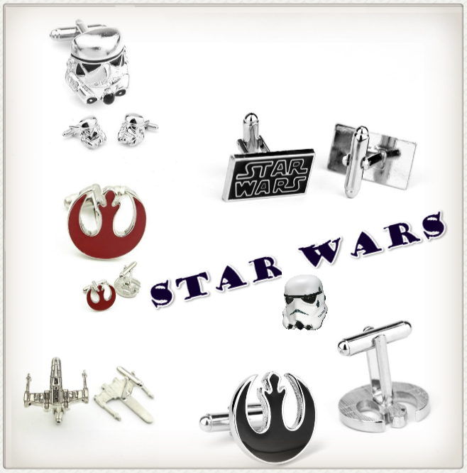 Giancomics 2019 New Simple Style Star Wars Cufflinks Mens Shirt Cuff Button for Men Cuff Link Hot Movie Series Gemelos Accessory