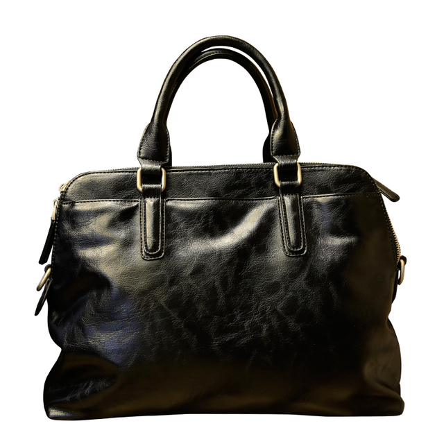 Fashion Men Black Pu Leather Briefcase Male Messenger Business