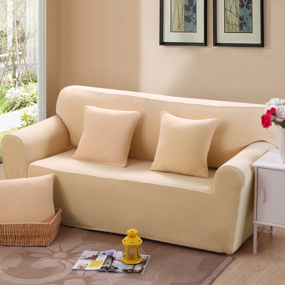 Universal sofa set beige bag all inclusive sofa cover for Cloth furniture coverings