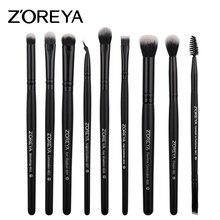 ZOREYA 9pcs/set Makeup Brushes Sets for Eye Powder Blending Blusher Make Up Brush Eyeshadow Makeup Cosmetic Tool Kits Maquiagem