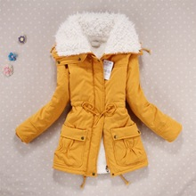 Casual Women Lamb Wool Warm Winter Overcoat Jacket Coat Outwear Lapel Parka S-XL