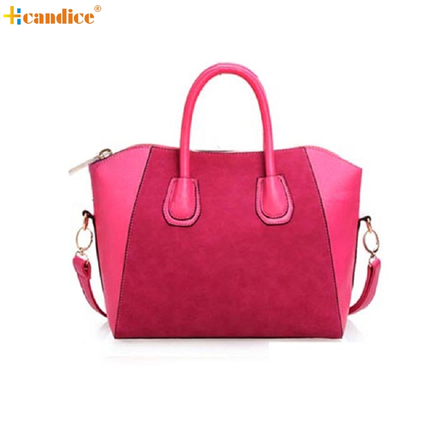 Naivety 2016 New 1PC Fashion Women PU Leather Frosted Handbag Lady Patchwork Tote Purse Shoulder Bag JUL13 drop shipping naivety new fashion women tassel clutch purse bag pu leather handbag evening party satchel s61222 drop shipping