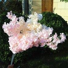 7pcs Fake Long Stem Peach Blossom (4 stems/piece) Simulation Cherry for Wedding Home Showcase Decorative Artificial Flowers