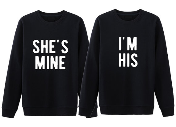 His And Her Matching Couple Sweatshirt She S Mine I M His