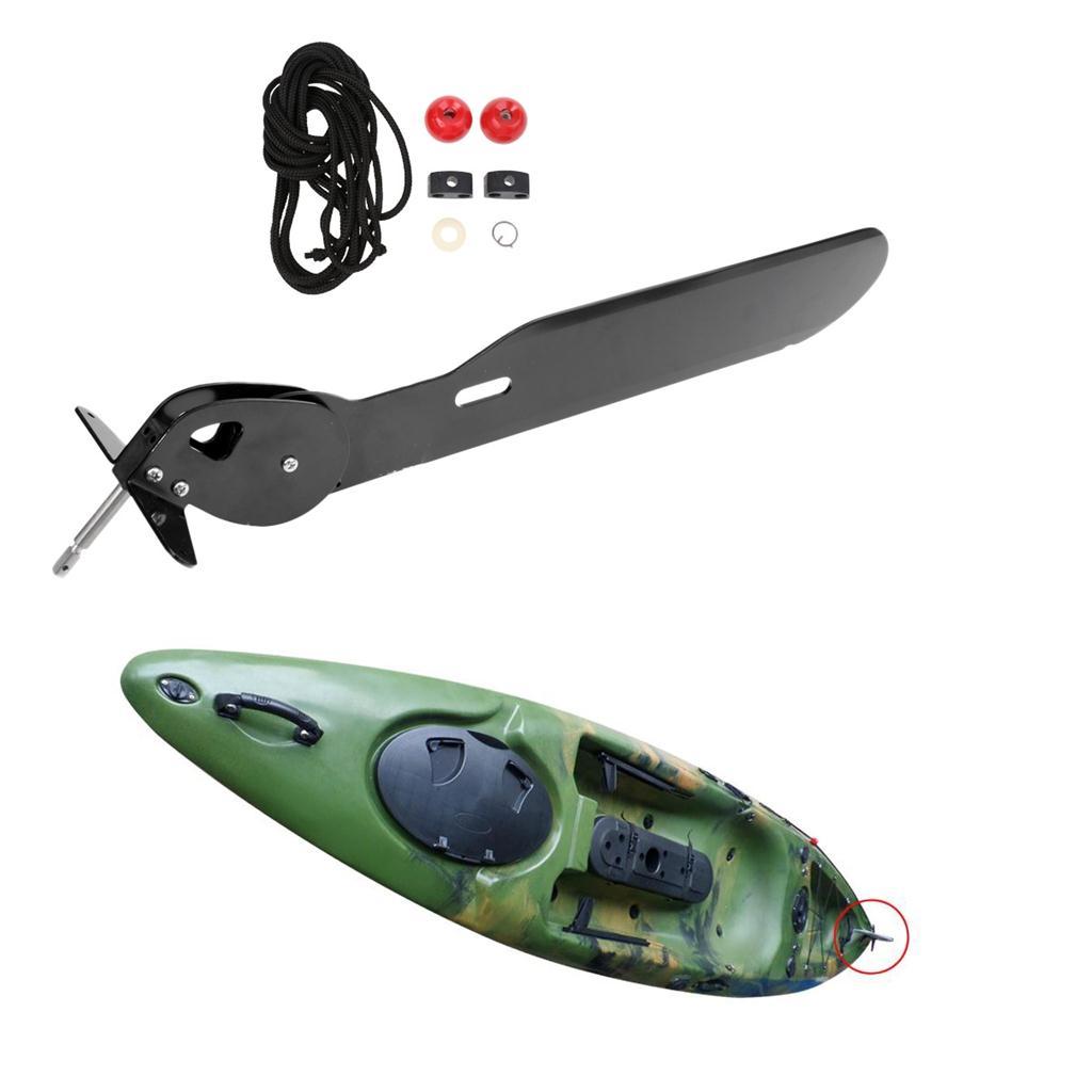 MagiDeal Gouvernail Direction de Kayak Canot Contr/ôle /à Pied Repose-pied Tige de Base P/édale Rotative