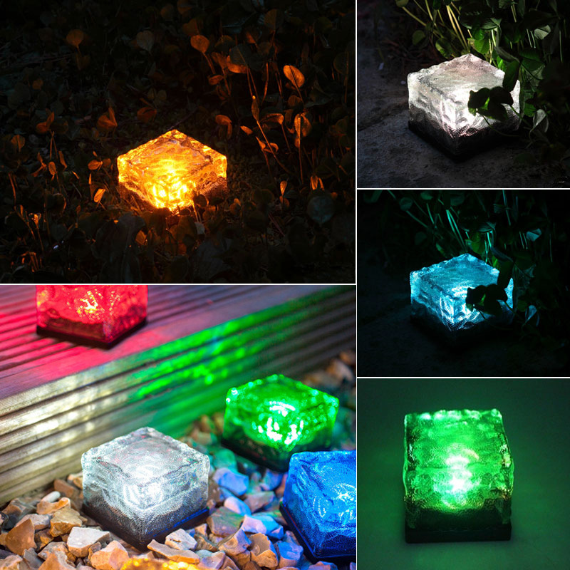 Waterproof Solar Light Buried Lamp Lawn Solar LED Nightlight Outdoor Lighting Floor Light 4 pieces lot