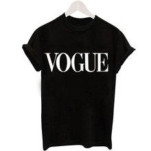 Size S-XXL Harajuku Summer Casual  T Shirt Women New Arrivals Fashion VOGUE Printed O Neck Female Woman Camisetas Mujer