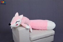Cute Soft Plush Long Tail Fox Toy Stuffed Cartoon Foxes Doll Pillow Cushion Bloster Baby Kids Friend Girl Birthday Gift Triver