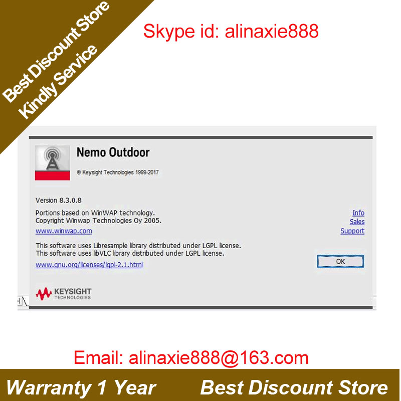 US $350 0  Free shipping DHL/EMS + Nemo outdoor 8 3 0 8 & Aanlyze 7 6 +  support LTE & WCDMA& GSM & volte& CA testiing + Full lic & Dongle-in Fixed