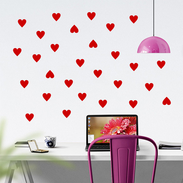 Little Hearts Wall Stickers Living Room Bedroom Baby Nursery Love Heart  Wall Decal Kids Room Home