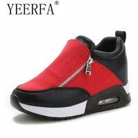 YEERFA Slipony פלטפורמת טריזי אישה נעלי Tenis Feminino נשים הגדלת גובה נעליים מזדמנים רוכסן Sapato Botas Mujer